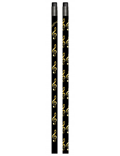 Pencil g-clef black/golden