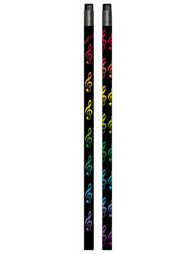 Pencil g-clef black/colourful