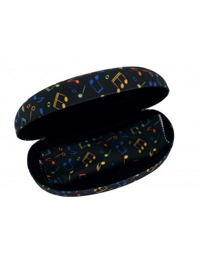 Sunglass case set notes colorful/black