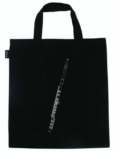 Tote bag flute black/silver