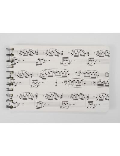 Spiral notebook sheet music...