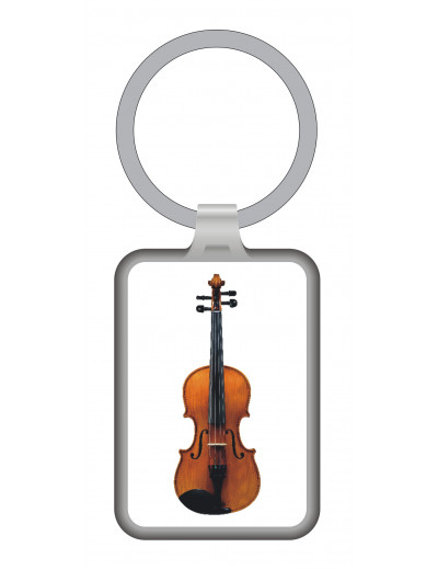 Schlüsselanhänger Geige Metall