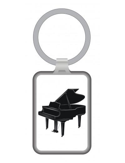 Keyring Grand Piano metal
