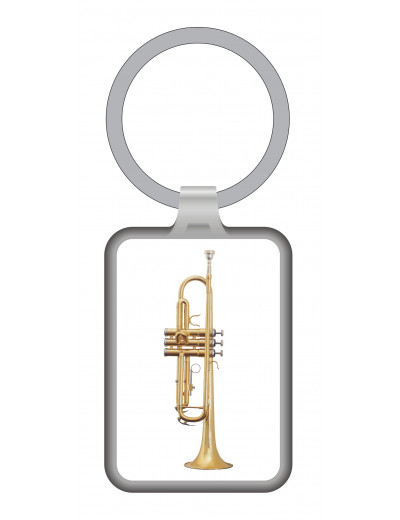 Keyring trumpet metal 7,5*3...